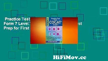 View Full Screen: practice test for the cogat grade 1 form 7 level 7 gifted and talented test prep for first grade.jpg